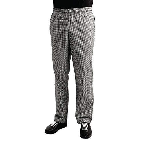 Whites Chefs Clothing A026T-M - Pantalones de teflón (polialgodón, talla M, cintura 86-91,4 cm), color negro