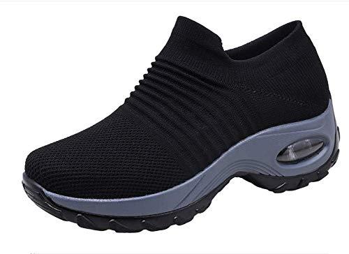 Zapatos de Trabajo Muy cómodos para Trabajos de hostelería y no resbalan-UniseZapatos Casuales Muy cómodos para Trabajos de hostelería y no resbalan-Unisex-adultox-Adulto (38 EU, Negro)