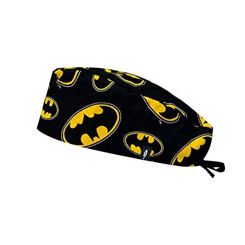 Robin Hat - Gorro de Quirófano Modelo: Batman - Pelo Corto - 100% Algodón (autoclave) - Tamaño Ajustable.