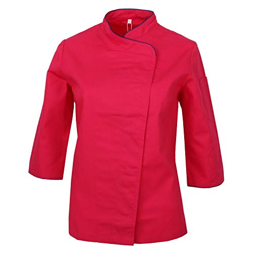 MISEMIYA - Chaquetas Uniformes Chef COCINERA Bar Restaurante HOSTELERÍA Mangas LARGAS - Ref.703 - Small, Fucsia