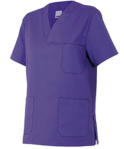 Velilla 589/C26/T0 Camisola pijama de manga corta con escote en pico, Morado