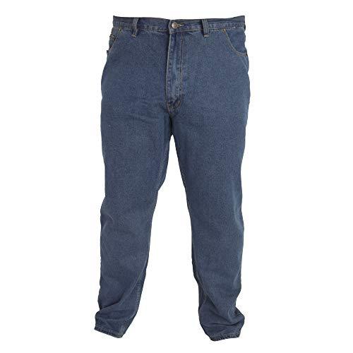 Duke - Pantalón cómodo Modelo Rockford Tallas Grandes para Hombre (127 cm Corto) (Efecto Lavado)