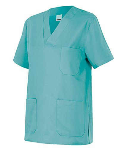 Velilla 589/C28/T0 Camisola pijama de manga corta con escote en pico, Turquesa Claro