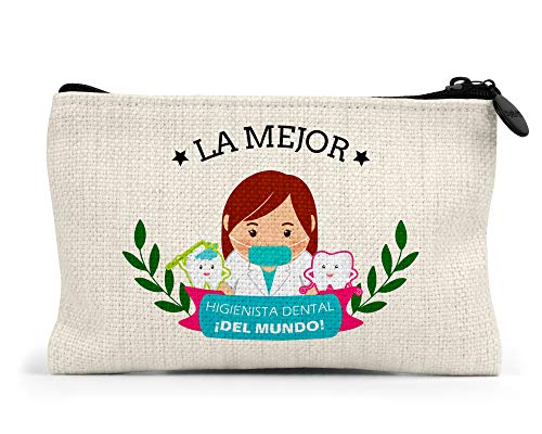 Monedero la Mejor higienista Dental del Mundo Regalo Original clínica Dental Personalizado