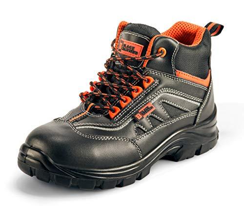 Botas para Hombre De Seguridad Puntera De Acero Zapatos De Trabajo Senderismo Plantilla De Protección Unisex-Adulto S1P SRC CE Aprobado Black Hammer 9952 Black Hammer (39 EU)