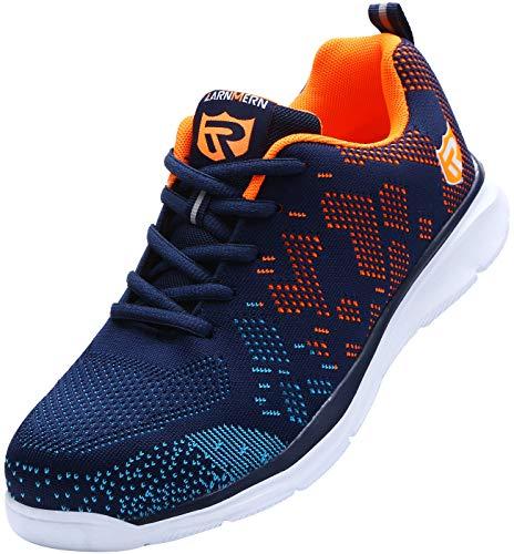 Zapatillas de Seguridad Mujer/Hombre DY-112, Zapatos de Trabajo con Punta de Acero Ultra Liviano Suave y cómodo Transpirable, Multicolor, 41 EU
