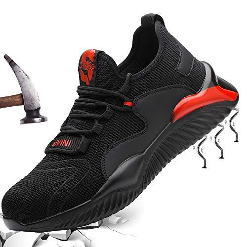 Zapatillas Hombre 42 Zapatos de Seguridad S4 Zapatos de Industrial Mujer Zapatillas Zapatos de Trabajo con Puntera de Acero Ligero Comodas Antideslizante Calzado de Seguridad Trabajo para Unisex