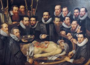 Lección de anatomía del Dr. Willem van der Meer, 1617. Pieter van Mierevelt en el blog de Uniformes Web