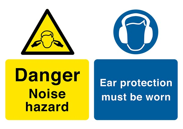 Danger noise Ear protection