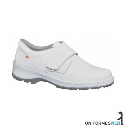 zapato velcro blanco calzado laboral uniformes web
