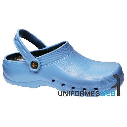 zueco eva azul para ropa de trabajo en uniformes web