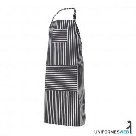 delantal de cocina a rayas con peto para ropa laboral en uniformes web
