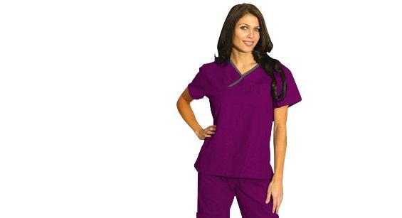 Pijama Sanitario Mujer Morado
