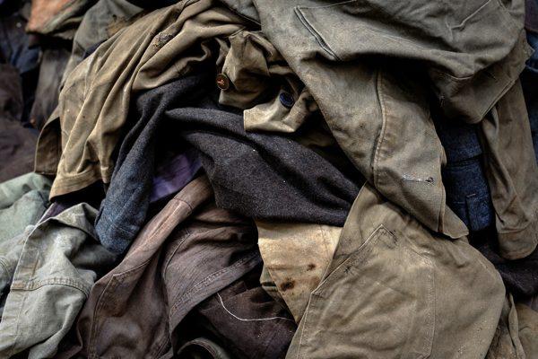 ropa de trabajo sucia