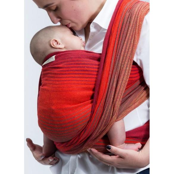 tejido de sarga para sujetar a un bebe