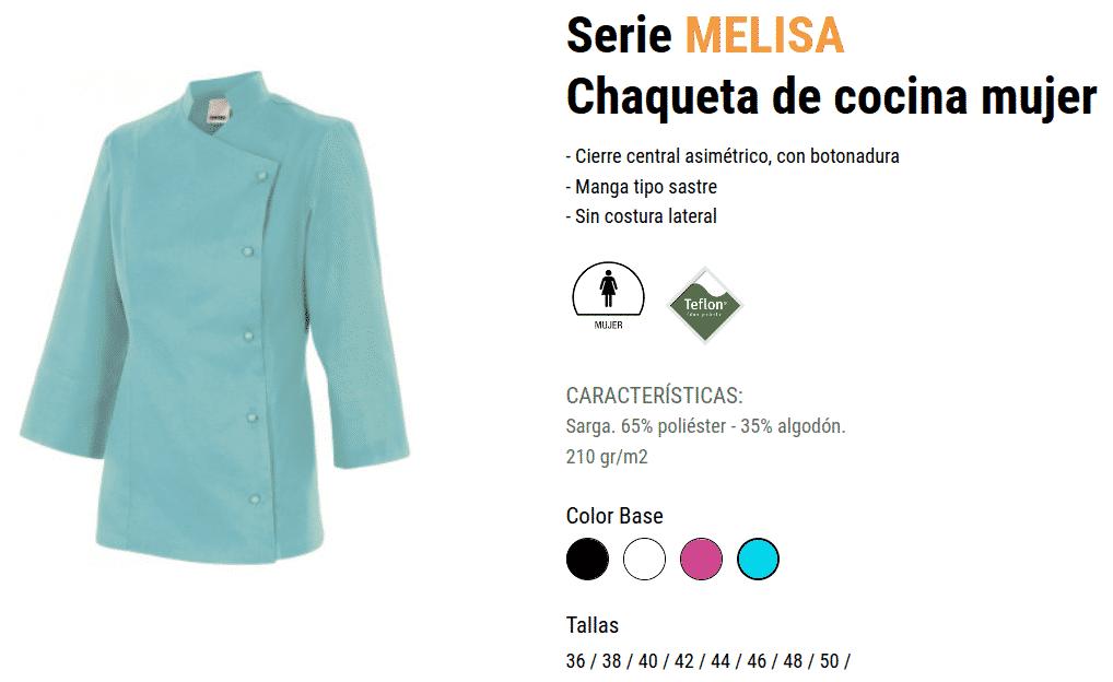 CHAQUETA DE COCINA MUJER