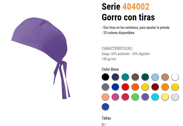 GORRO de colores CON TIRAS