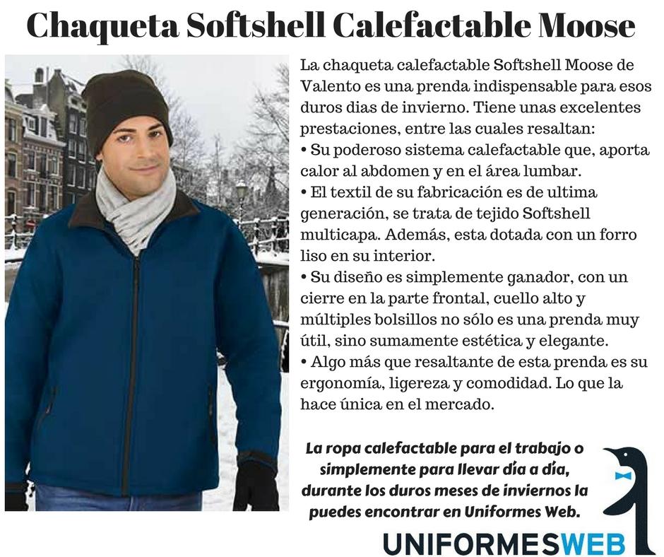chaqueta softshell con calefación incorporada
