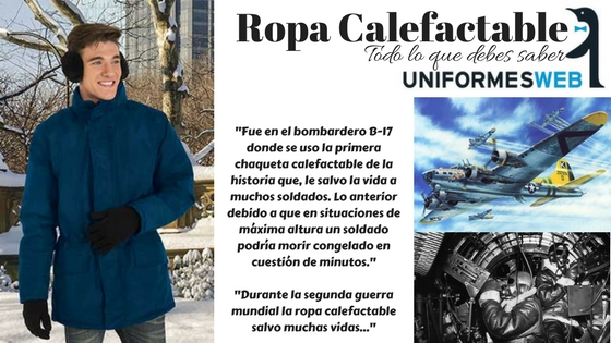 Ropa inteligente calefactable